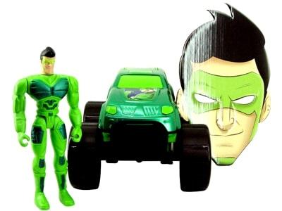 Boneco Super Vigilante Verde com Carro e Máscara