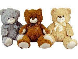 00347 – Urso Médio Laço Liso 45cm
